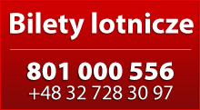 Bilety Lotnicze na Tanie Latanie - 801 000 556; +48 32 728 30 97